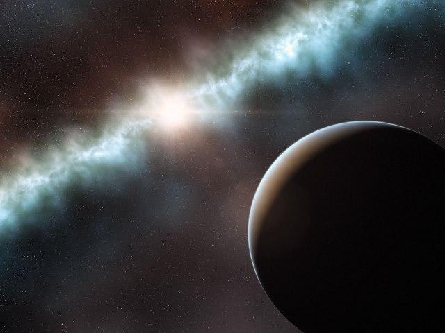 Ilustración del sistema T-Chamaleontis en el que se ha detectado el compañero de baja masa. Fuente: http://www.eso.org/public/spain/news/eso1106/