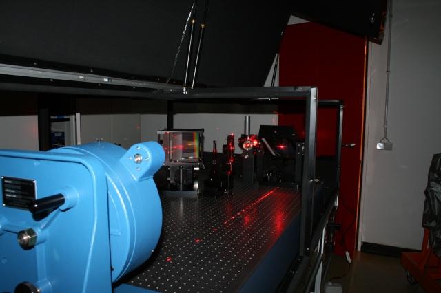 Interior de CAFE, el nuevo instrumento del Observatorio Astronómico Hispano-Alemán de Calar Alto que servirá, entre otras aplicaciones, para la búsqueda de planetas extrasolares.