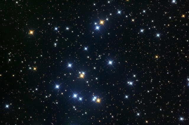Figura 2.- Una fotografía de Praesepe (M44, la Colmena).