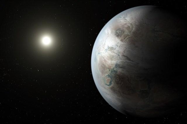 Concepción artística del planeta Kepler-452b. Fuente: NASA.