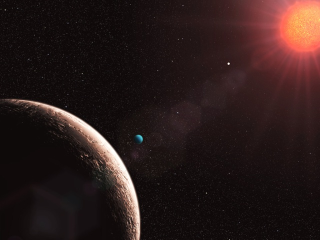 Artist's impression of the newly discovered planetary system Gli
