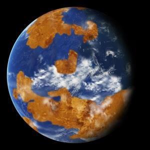 Recreación de uno de los posibles modelos usados en el trabajo. Crédito: NASA.